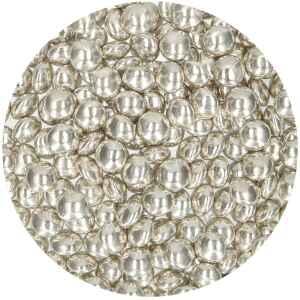 Confetti al Cioccolato Argento Metallizzato 80 Grammi FunCakes