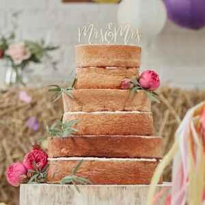 Topper Cake in legno Ginger Ray Mr & Mrs - Boho