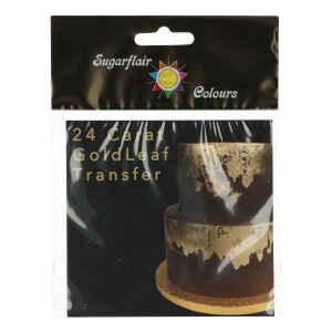 Foglio Oro Alimentare Quadrato 8 x 8 cm Sugarflair