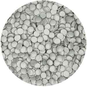 Coriandoli Argento Ø 6 mm 60 Grammi FunCakes