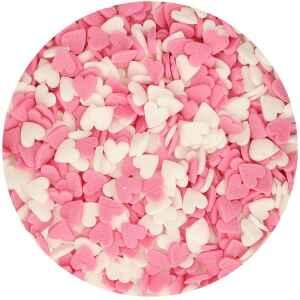 Cuoricini Rosa e Bianchi 60 Grammi FunCakes