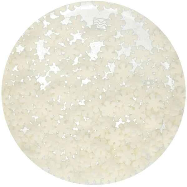 Fiocchi di Neve Glitterati Bianchi 50 Grammi FunCakes