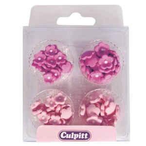 Mini Fiori Fucsia e Rosa in Zucchero 100 Pezzi Ø 0,6 - 1 cm Culpitt