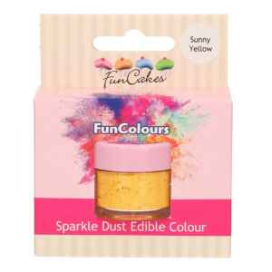 Polvere Colorata Edibile Giallo Sole 1,5 g FunCakes