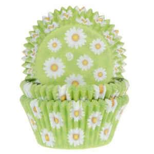 Pirottini - Cupcake da Forno Margherite Bianche 5 cm 50 Pz House of Marie