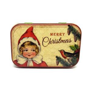 Latta Rettangolare Tascabile a Cerniere Nostalgia - Merry Christmas