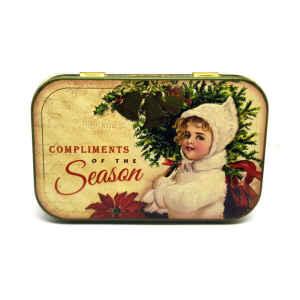 Latta Rettangolare Tascabile a Cerniere Nostalgia - Compliments of the Season