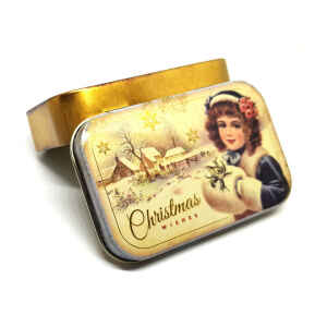 Latta Rettangolare Tascabile a Cerniere Nostalgia - Christmas Wishes