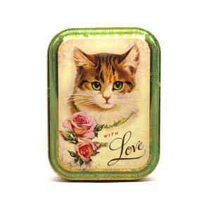 Latta Rettangolare Alta Piccola Nostalgia - With Love Cat 10,5 x 7,8 x 6,4 cm
