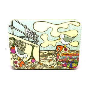 Latta Rettangolare Piccola Coast - Fishing Boat 14,2 x 10,1 x 3,7 cm