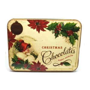 Latta Rettangolare Piccola Nostalgia - Christmas Chocolates 14,2 x 10,1 x 3,7 cm