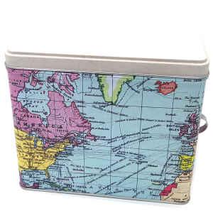 Latta portaoggetti con porta etichetta World Traveller 17 x 13,4 x 14,8 cm