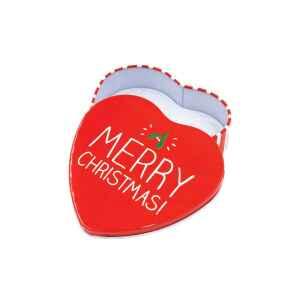 Latta a forma di cuore Merry Christmas