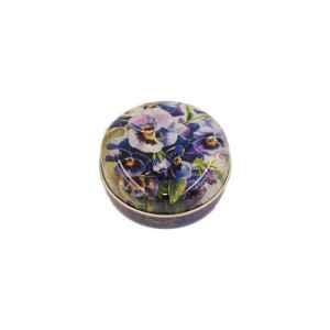 Latta tonda tascabile Nostalgia Violet 6,3 x 3 cm
