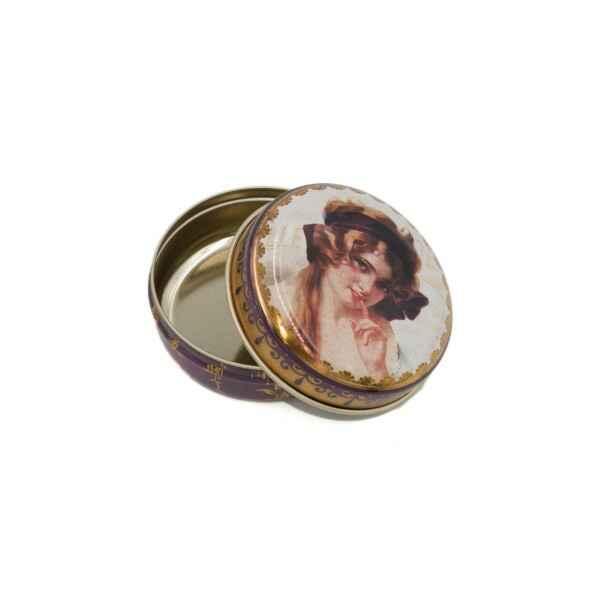 Latta tonda tascabile Nostalgia Donna 6,3 x 3 cm