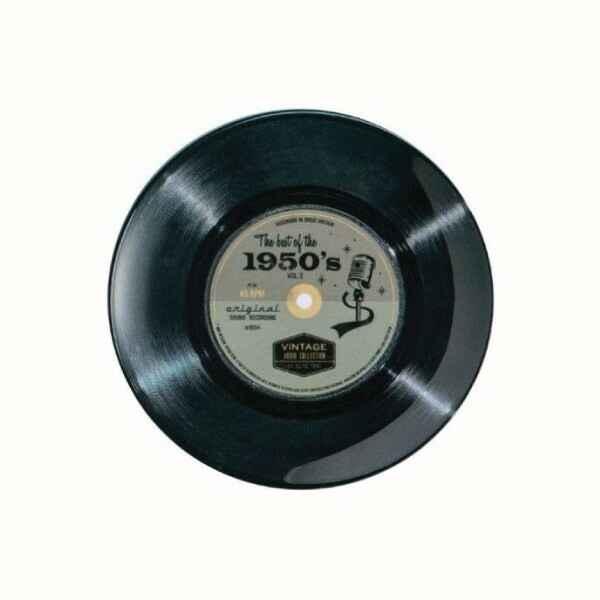 Piatto da portata disco in vinile 45 giri The best of the 1950's