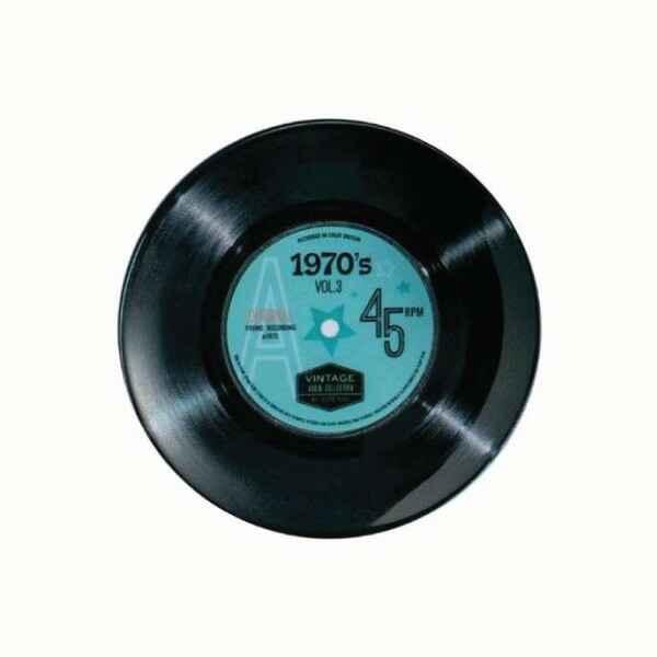 Piatto da portata disco in vinile 45 giri 1970's