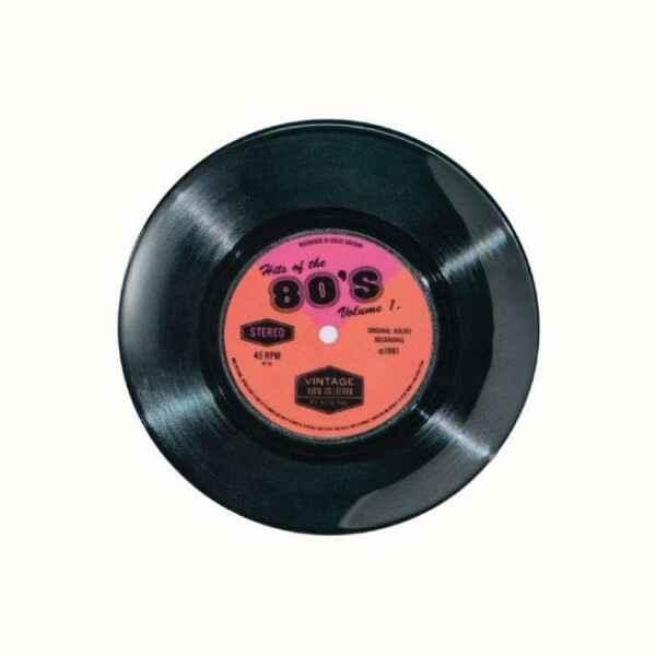 Piatto da portata disco in vinile 45 giri Hits of the 80's