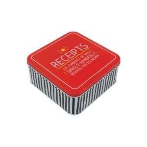 Latta quadrata media Receipts 15,2 x 15,2 x 6,2 cm
