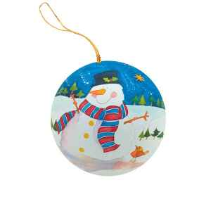 "Pallina di Natale ""Snowman"" in Latta"