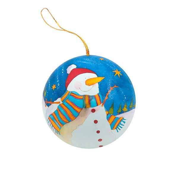 "Pallina di Natale ""Snowman"" in Latta Carota"