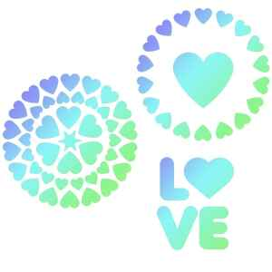 Stencil Love 3 Pz JEM