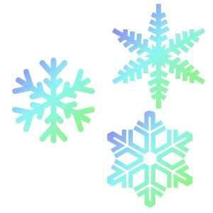 Stencil Fiocchi di Neve 3 Pz JEM