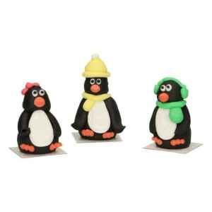 3D Pinguini in Zucchero 3 Pezzi FunCakes