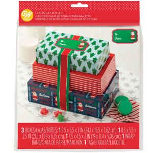 Treat Boxes Babbo Natale Set 3 Pz Wilton