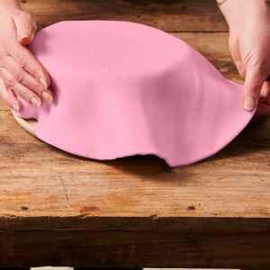 Foglio a Disco Pasta di Zucchero Rosa Senza Glutine 430 g FunCakes