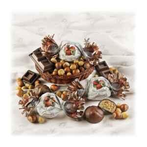 Amaretti alla Nocciola ricoperti di Cioccolato Fondente Senza Glutine (min. 500 g)