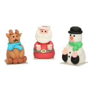3D Christmas in zucchero 3 Pz