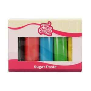 Confezione Multipla Colori Primari 5 x 100 g Senza Glutine FunCakes