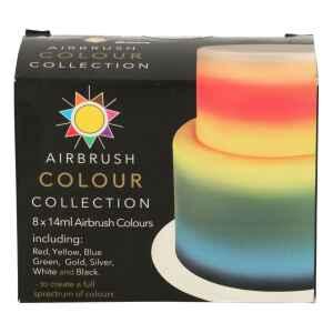 Coloranti per Aerografo Senza Glutine 8 Pz 14 ml Sugarflair