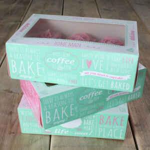 Box 6 Cupcakes Citazioni 24 x 16 x 8 cm e Inserto 3 Pz FunCakes