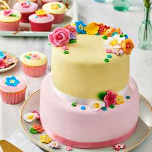 Fondant Multipack Arcobaleno di Rosa 5 x 100 g Senza Glutine FunCakes