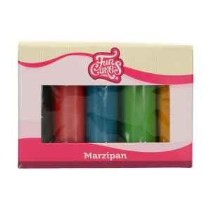 Marzapane Multipack Colori Primari 5 x 100 g Senza Glutine FunCakes