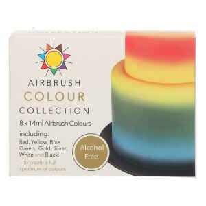 Coloranti per Aerografo Senza Alcool Senza Glutine 8 Pz 14 ml Sugarflair