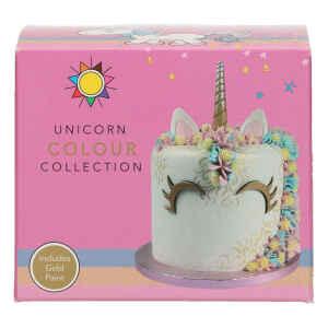 Coloranti Unicorno Collection Set Senza Glutine 5 Pz Sugarflair