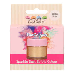 Polvere Alimentare FunColours Oro Glitter 3,5 g FunCakes