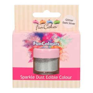 Polvere Alimentare FunColours Argento Scuro Glitter 3,5 g FunCakes