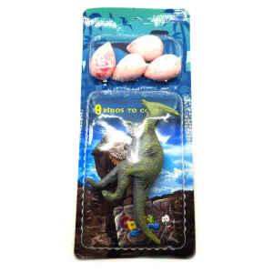 Dinosauro con uova Bubble Gum 6 pz