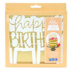 Cake Topper e Tagliapasta Happy Birthday Moderno PME