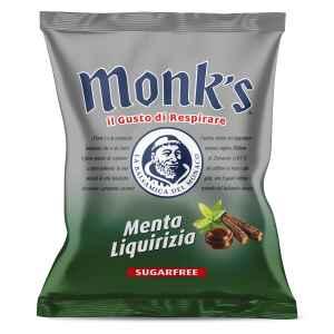 Caramelle Monks Menta Liquirizia Senza Zucchero
