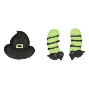Cappello e gambe di strega in Zucchero 12 Pz FunCakes