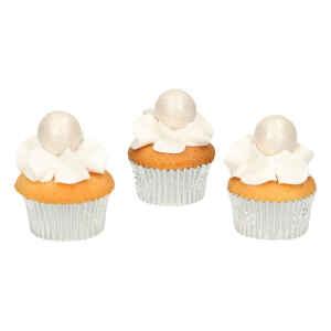 Pearl Choco Balls Argento Senza Glutine 8 Pz FunCakes