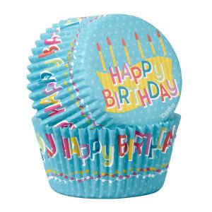Pirottini - Cupcake da Forno Happy Birthday 5 cm 50 Pz Wilton