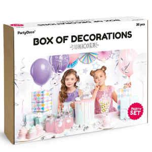 Set decorazioni per feste - Unicorno 35 Pz PartyDeco