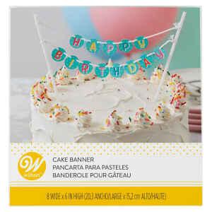 Cake Banner Buon compleanno Wilton