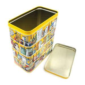 Latta rettangolare Setting Up Home Larder Storage Tin